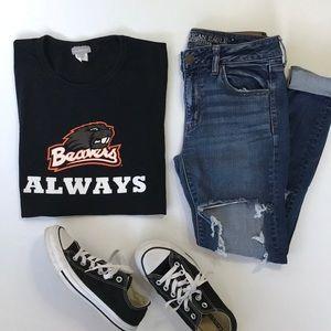 Black T-shirt Oregon State University Beavers